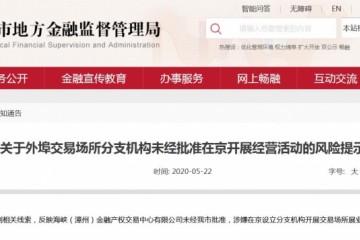 海峡金交中心在京违规展业曾被列入运营反常名录